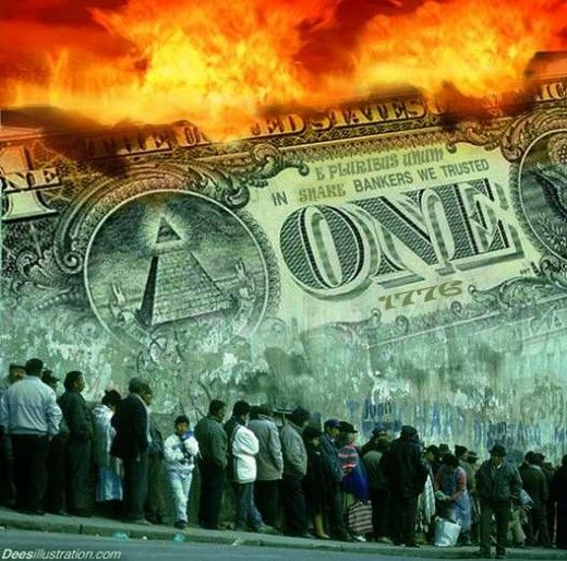 The Economic Collapse In America Dollar Collapse Currency War Art