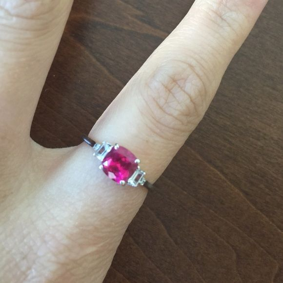 10k ruby diamond ring sale Real white 10k gold ring with real 1