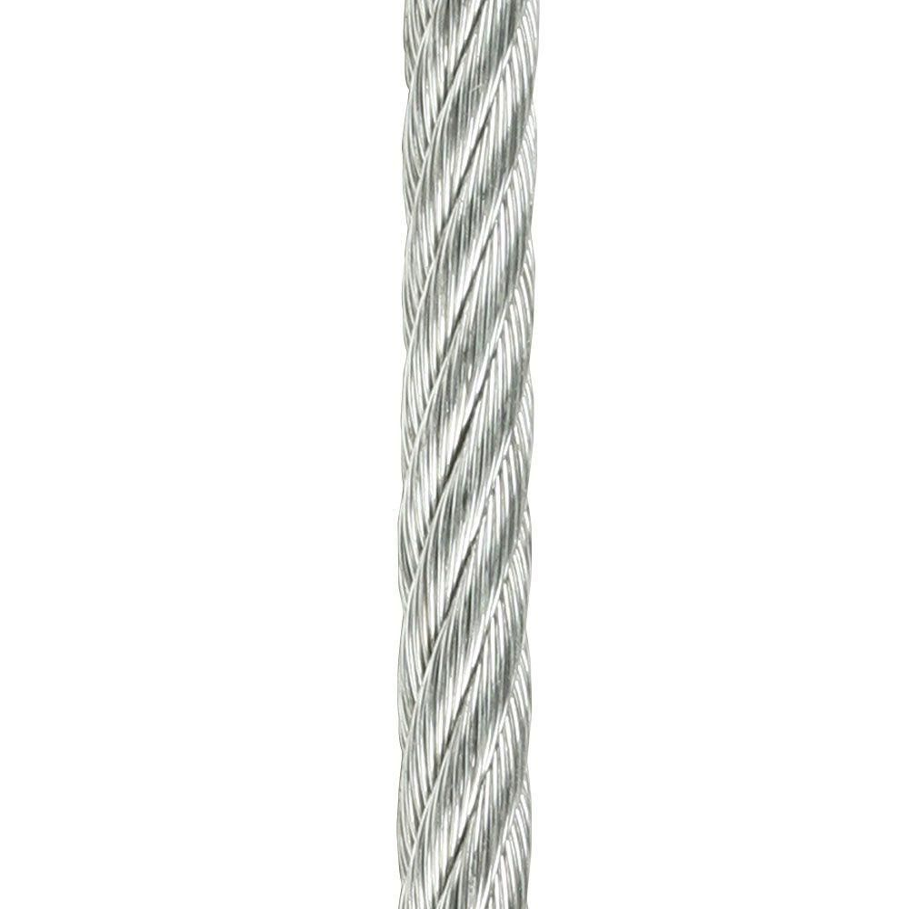 Crown Bolt 1 8 In X 1 Ft Plain Galvanized Wire Rope Metallics Rope Deck Shade Wire