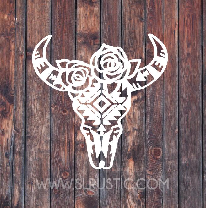 bull head decal bull head decor