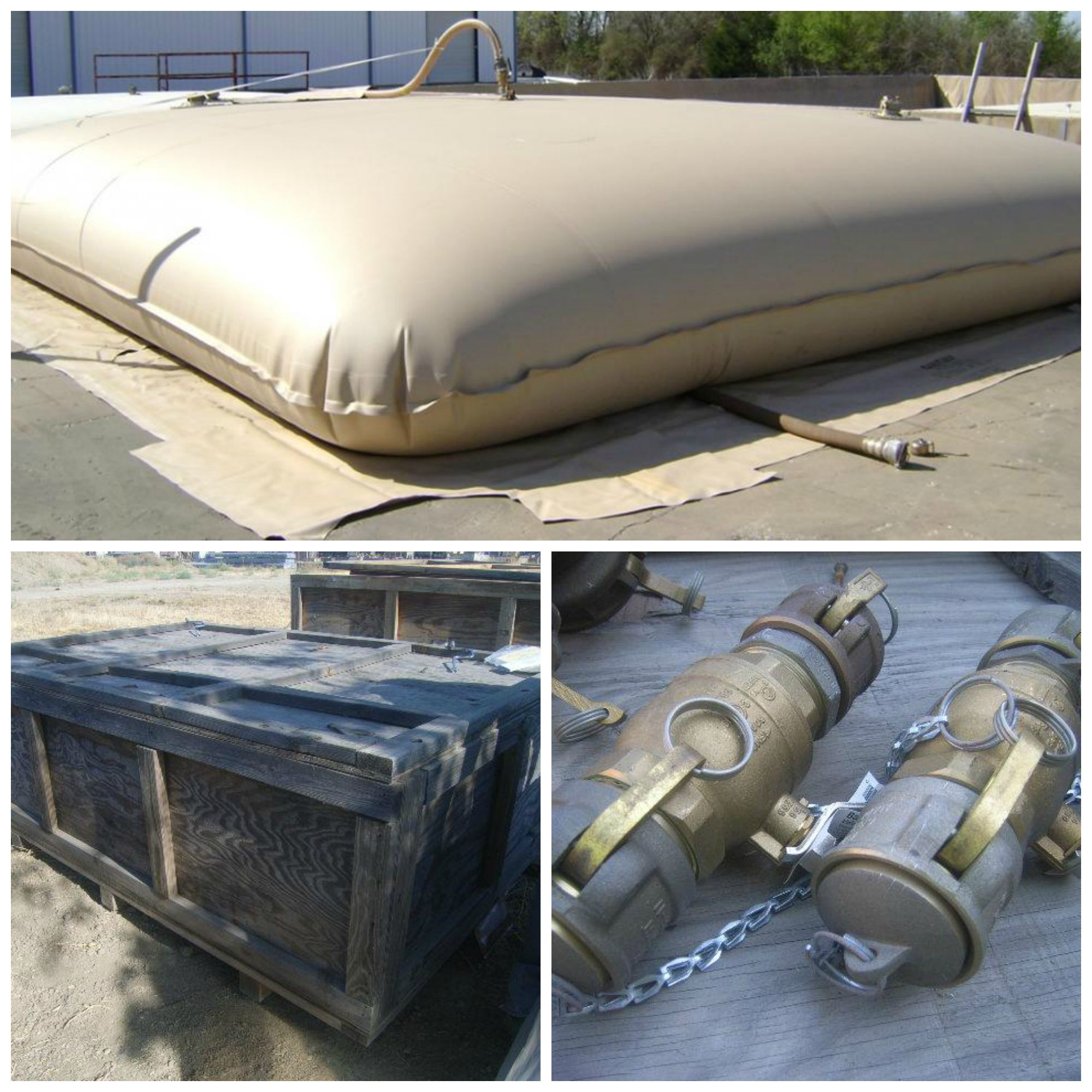 We have GTA Containers 50 000 Gallon Fabric Collapsible Water Tanks