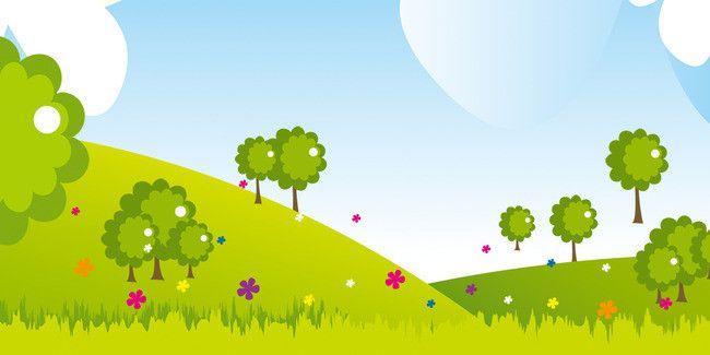 L Image De Dessin De Prairie D Arbres De Fond Planting Flowers