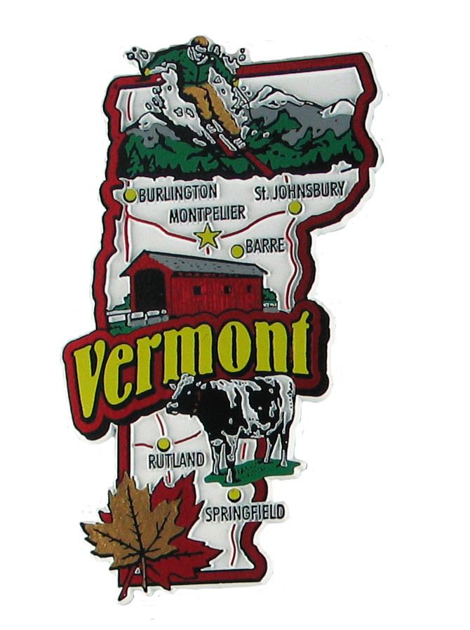 United States Map Magnets.Pin By Mgicompanies On Colorful Souvenir Map State Magnets Vermont