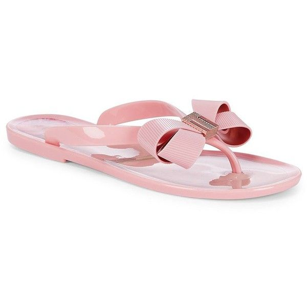 c0f018293e4b Ted Baker London Women s Suzie Bow Jelly Thongs (€61) ❤ liked on Polyvore