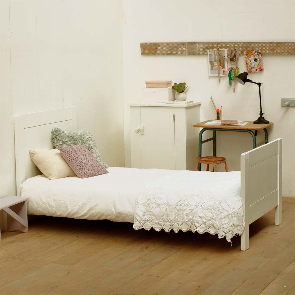Timzowood Living Yan Bed 90 x 200 cm - Geschuurd Wit