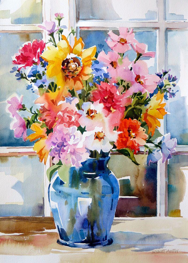 Bridget Austin Watercolor Paintings For Beginners Floral