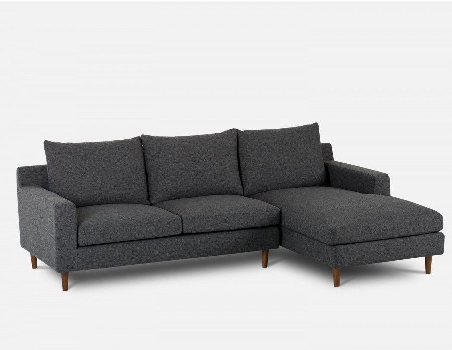 Constance Sectional Sofa Right Dark Grey Grey Sectional Sofa