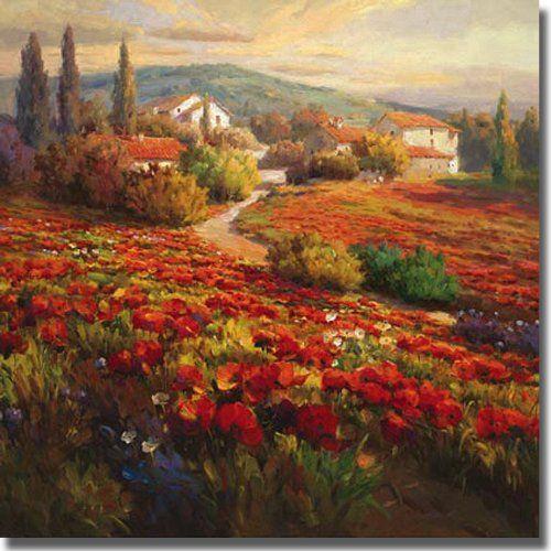 Poppy Fields by Roberto Lombardi Premium Stretched Canvas (Ready to Hang) Artistic Home Gallery,http://www.amazon.com/dp/B005W3UIGQ/ref=cm_sw_r_pi_dp_YgxAtb0MJAHKDFH1