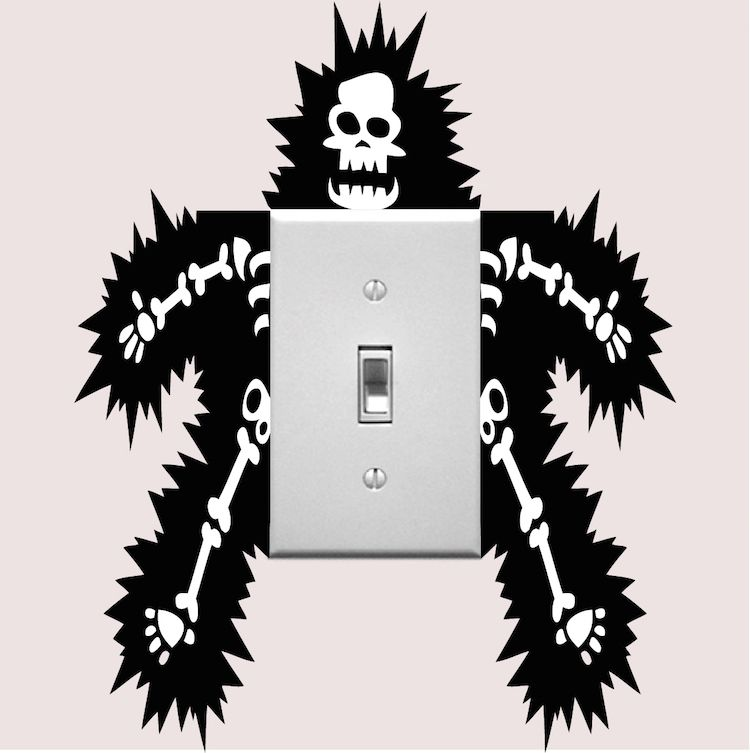 funny outlet or light switch wall decal sticker wall on wall stickers id=89255