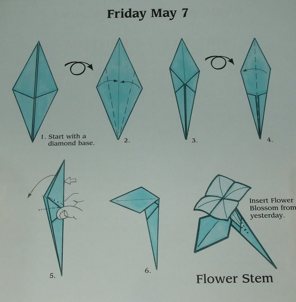 Origami Charming Origami Rose Instructions: How To Make Origami ... | 1024x1003