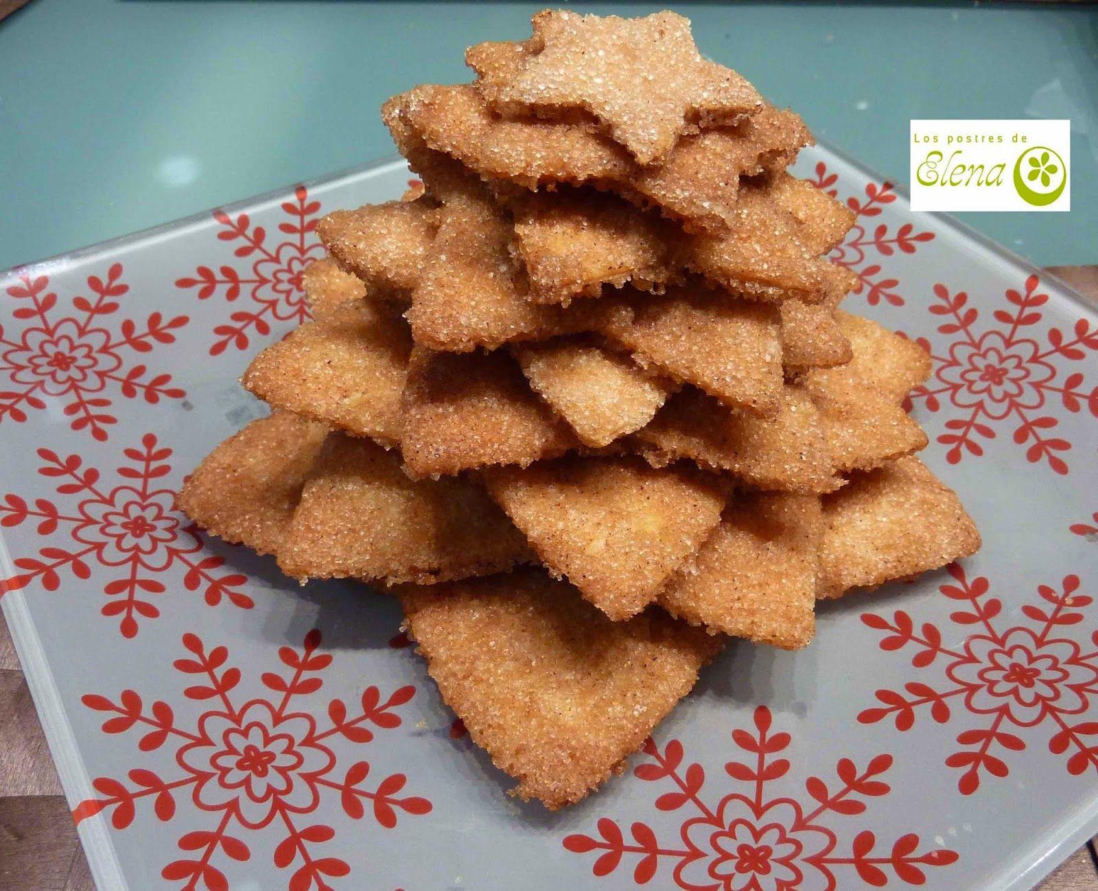Los Postres de Elena: Arbolitos de Navidad de galletas crujientes. http://www.lospostresdeelena.com/2014/12/arbolitos-de-navidad-de-galletas.html