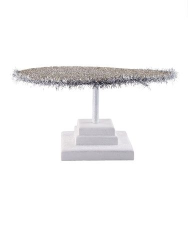 This Glitter & Tinsel Dream Display Platter is perfect! #zulilyfinds