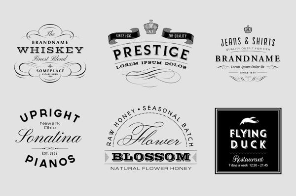 Retro Logos Ideas Google Trsene Vintage Logo Logo Templates Text Dividers