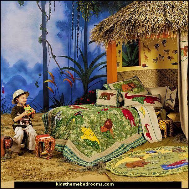 Safari Adventure Theme Bedrooms Kids Rooms Jungle Theme Decorating