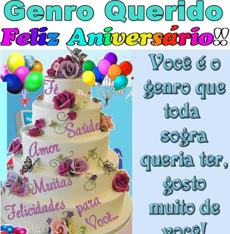 Genro Querido Feliz Aniversário Felicidades Felizaniversario