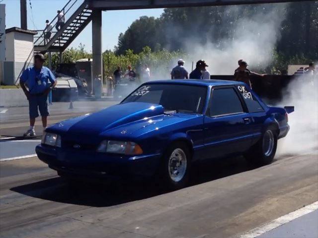 World S Fastest Stick Shift Mustang Posts 8 58 Quarter Mile Mustang Fox Body Mustang Stick Shift