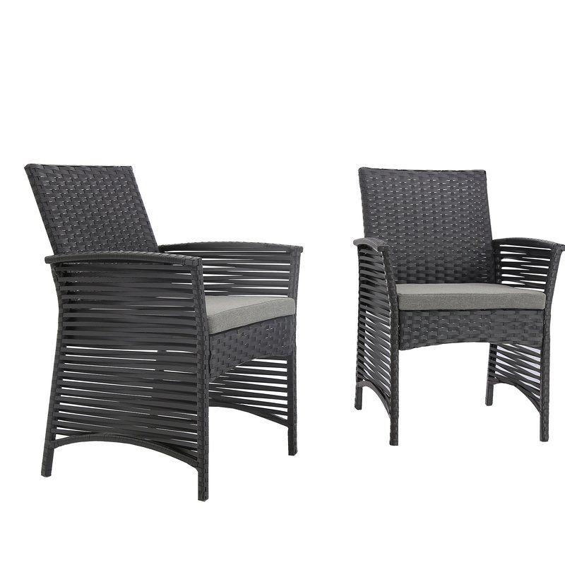 Reidsville Backyard Pool Rattan Wicker Patio Chair With Cushions Wicker Patio Chairs Patio Chairs Outdoor Wicker Chairs