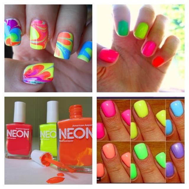 Make Your Neon Nailpolish Brighter