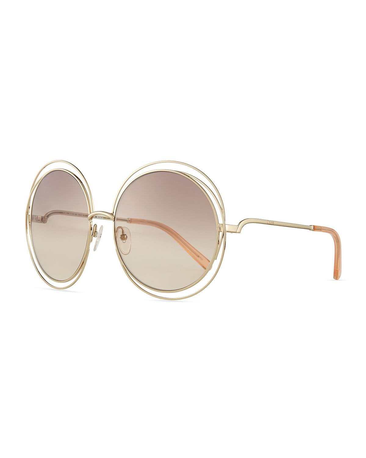 1bd5334b6646 Carlina Round Wire Metal Sunglasses