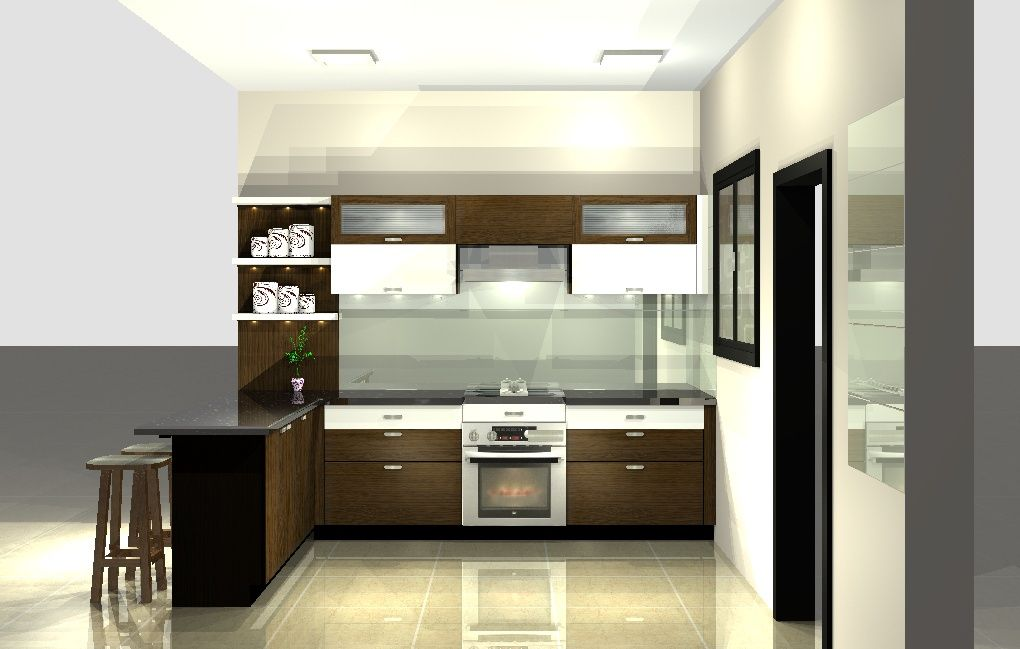 Sleek Modular Kitchen Design Kitchen Kitchen Wardrobe Complete