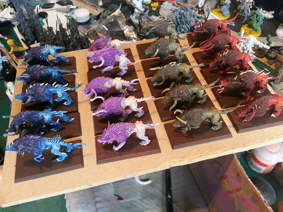 Chaos Warhounds (4 colours to represent different chaos ...Warhammer 40k Chaos Gods Fanfiction