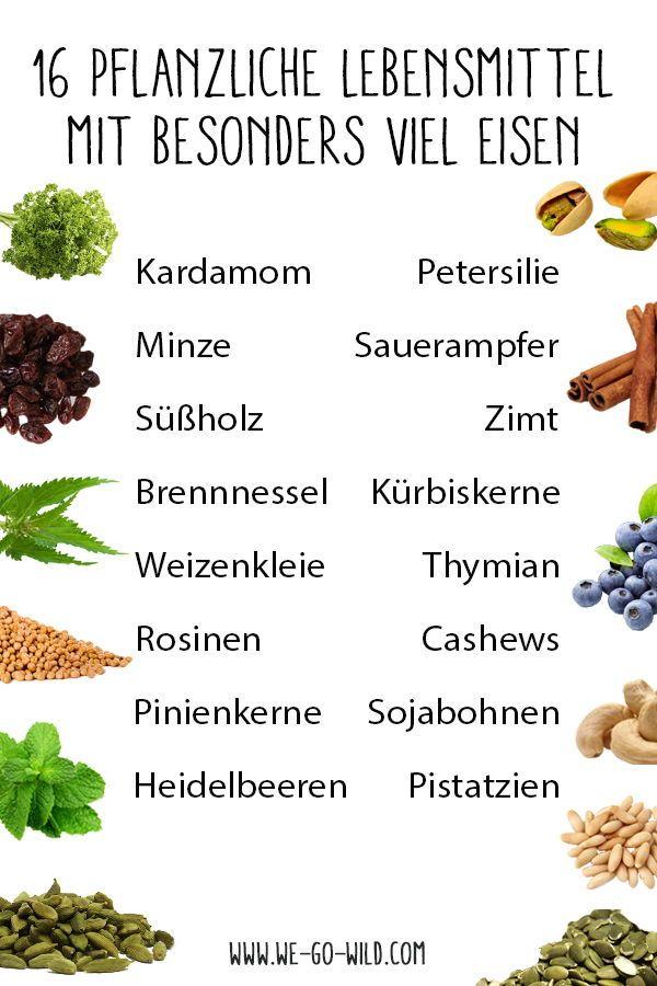 Eisenhaltige Lebensmittel - die besten Nahrungsmittel mit viel