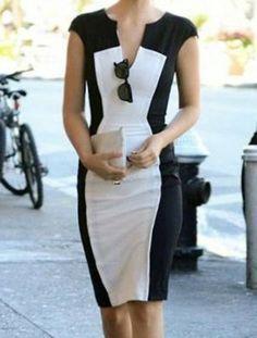 vestido en blanco   negro  eacfc75f3c7