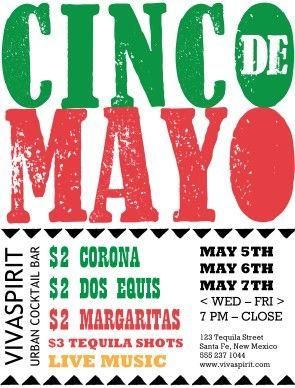 cinco de mayo flyer cincodemayo fiesta mexican restaurant flyer