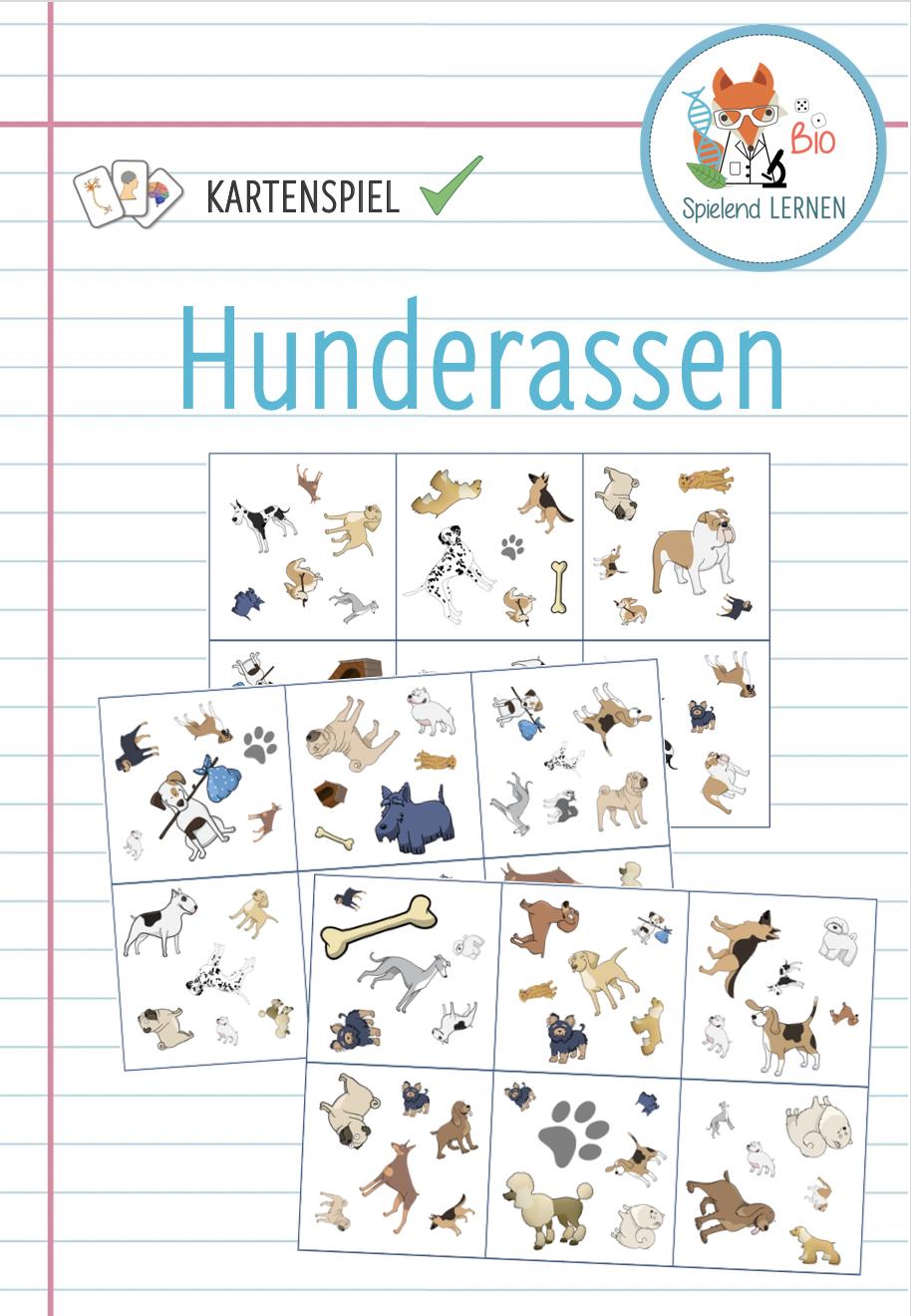 Hunderassen Kartenspiel Unterrichtsmaterial Im Fach Biologie In 2020 Hunde Rassen Hunderassen Kartenspiel