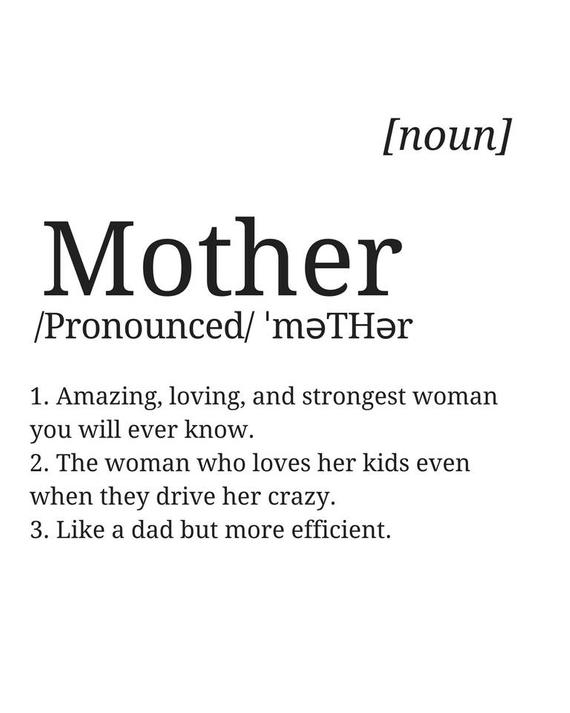 Mother Quote Definition Print Digital Print Instant Art