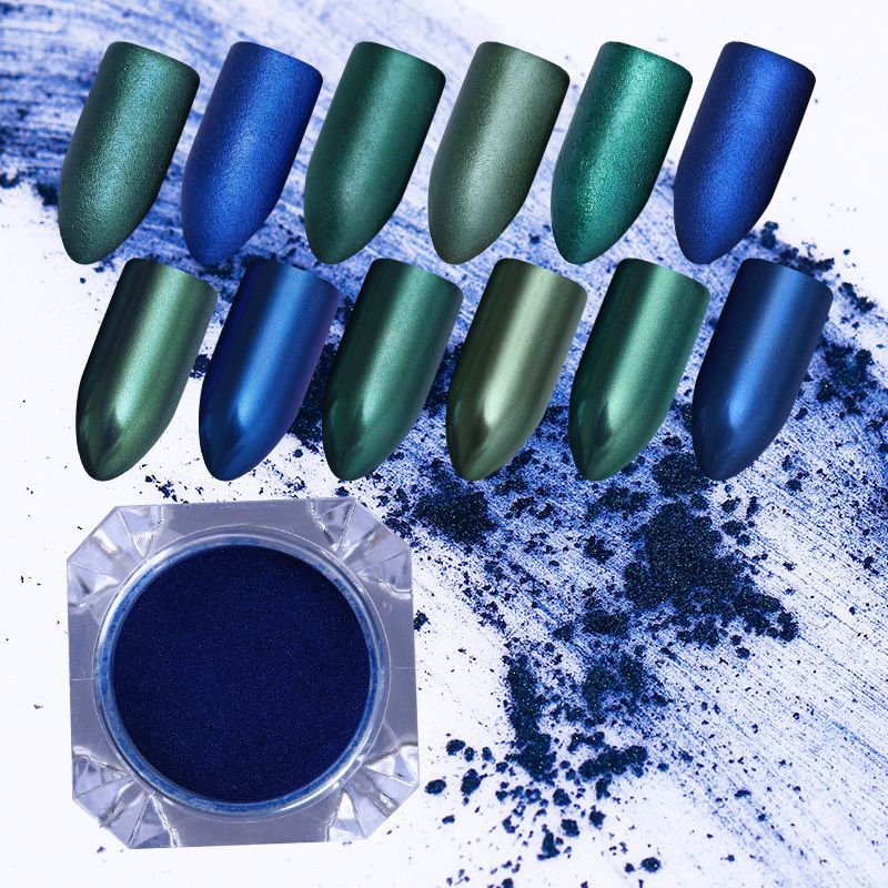1.5g Mermaid Green Blue Prussia Dust Powder Shell Glimmer Nail Art ...