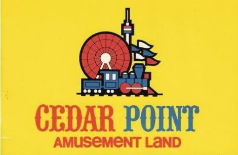 Cedar Point Amusement Land logo | Retro graphics, Brand book ...
