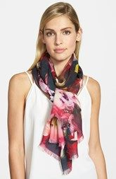 Ted Baker London 'Cascading Floral' Long Scarf