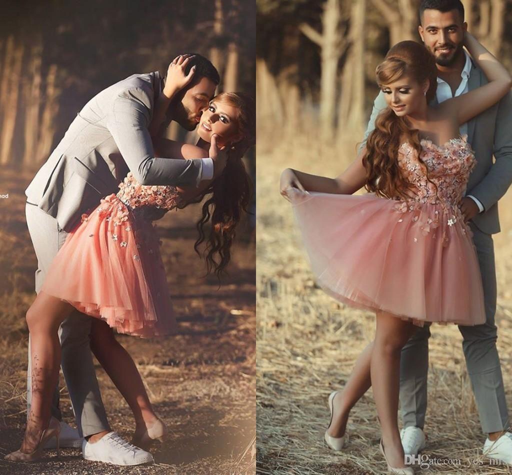 cheap peach arabic homecoming dresses sweetheart short mini