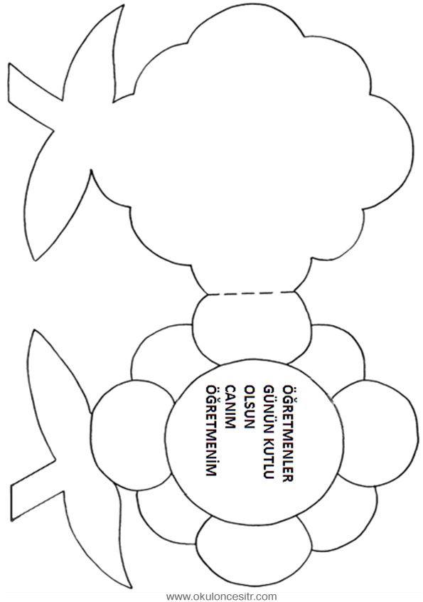 çiçek Kalıbı Etkinlikler Pinterest Arte Em Papel Dia Das Mães