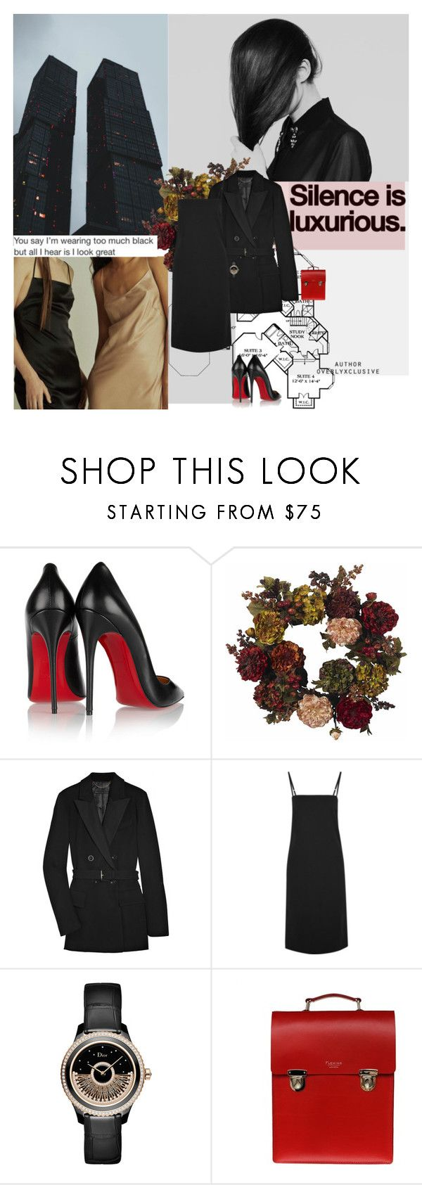 """""""1091. Towers"""" by dreamingofamelia ❤ liked on Polyvore featuring Goodlife, Christian Louboutin, Nearly Natural, Marc by Marc Jacobs, Bassike, Christian Dior and Sophie Fleming"""