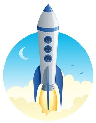We Re Launching Some Exciting Stuff Science Education Kids Vector Rocket Launch
