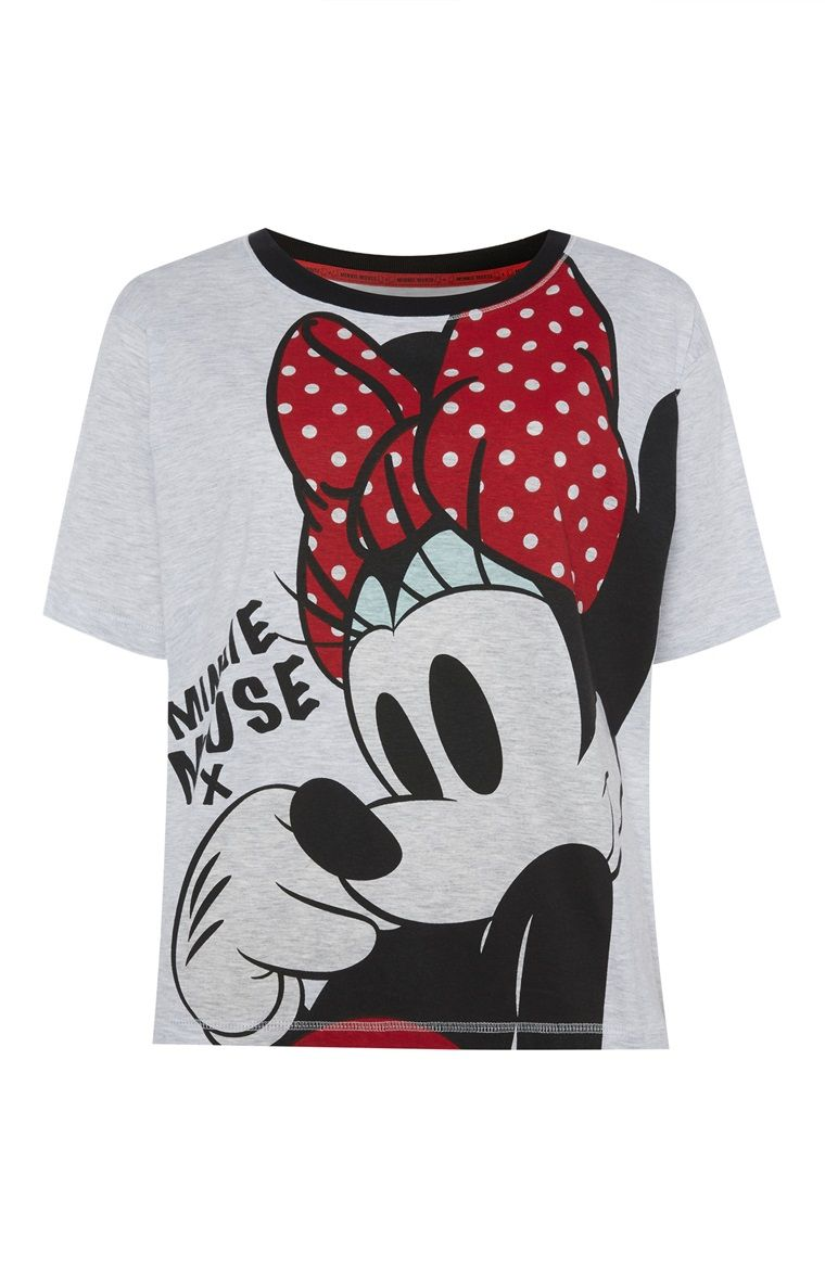 Primark Grey Minnie Mouse PJ TShirt favorite
