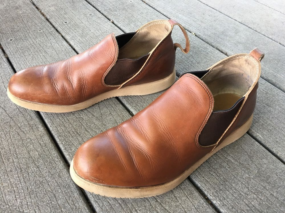 RED WING ROMEO SHOES SZ 11 E SLIP ON