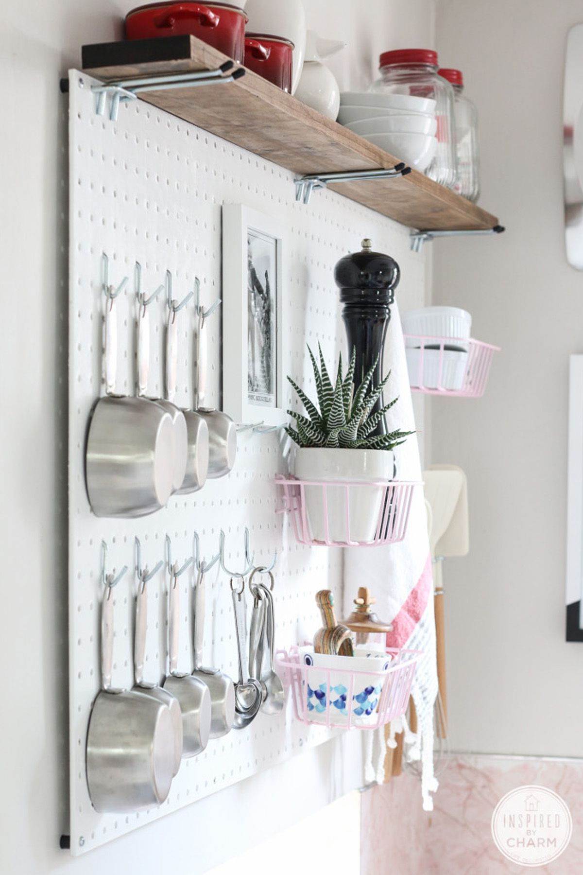Kitchen Pegboard Bulbs 25 Genius Diy Storage Solutions Your Home Needs Now Adobe Use A Peg Board To Hang Things In Also Would Be Great For Adding Color Just By Painting The
