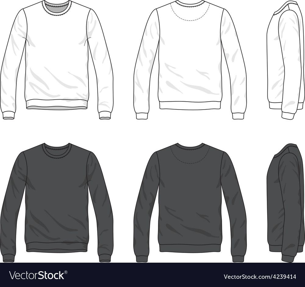 Front Back And Side Views Of Blank Sweatshirt Vector Image Spon Views Side Front Blank Ad Hoodie Vector Vector Clothes Blank Sweatshirts
