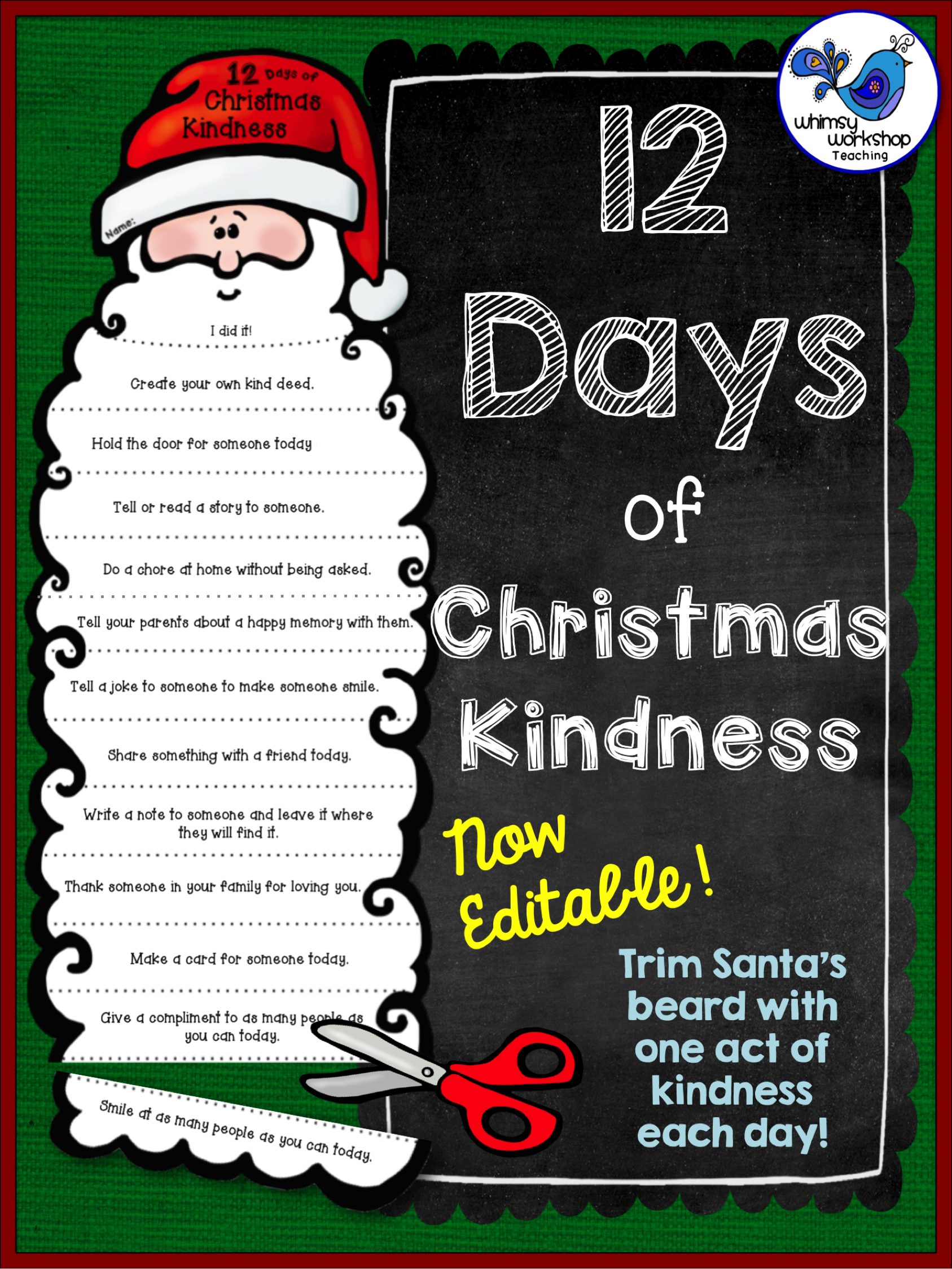 Christmas Kindness Whimsy Workshop Teaching Christmas School Christmas Kindergarten Christmas Classroom