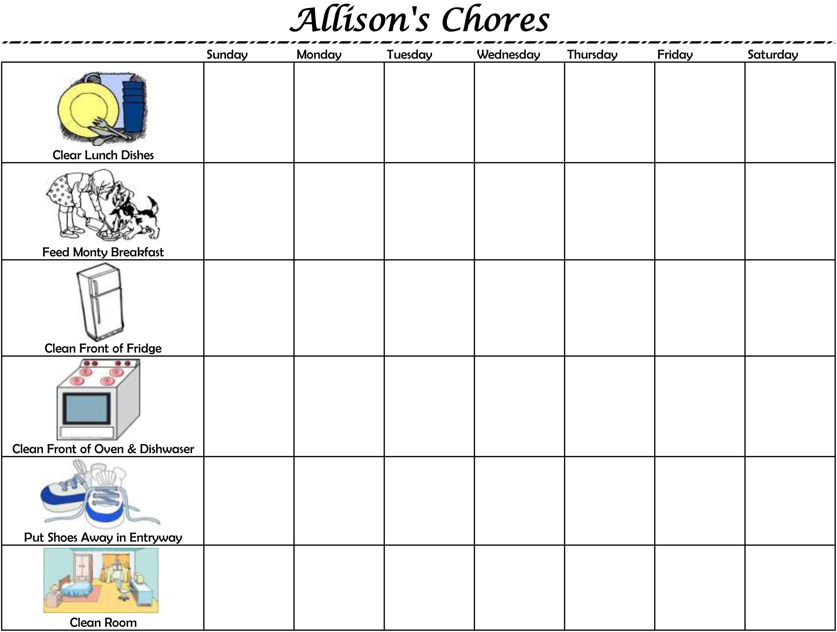 Pin By Jennifer Collins On Mj Stuff Chore Chart Kids Kids Behavior Chore Chart