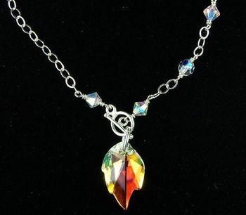 Crystal leaf necklace jewelry design ideas jewellery making crystal leaf necklace jewelry design ideas audiocablefo