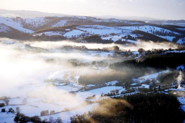 Entre niebla y nieve en San Mamede en As Pontes