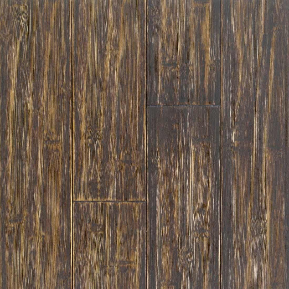 Black Distressed Bamboo Flooring Looks