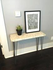 Photo of #stunning #entryway #becomes #marble #table #slab