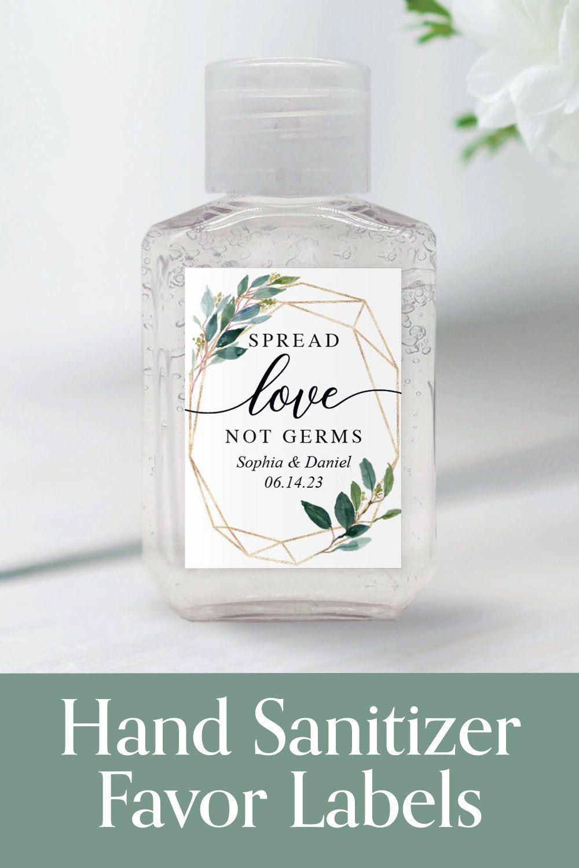 Hand Sanitizer Wedding Favor Labels In 2020 Wedding Favor Labels Wedding Labels Wedding Shower Favors
