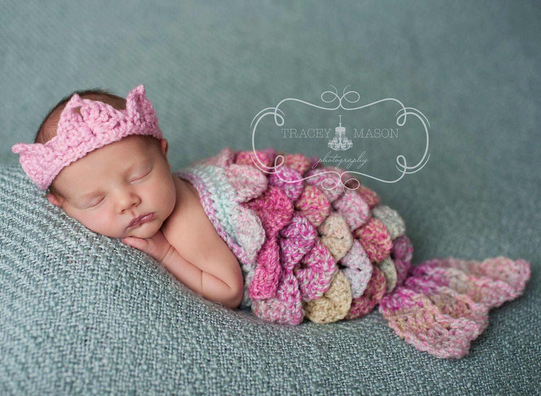 Newborn Mermaid Cape Set MADE TO ORDER | Babyfotos, Babys und Häkeln