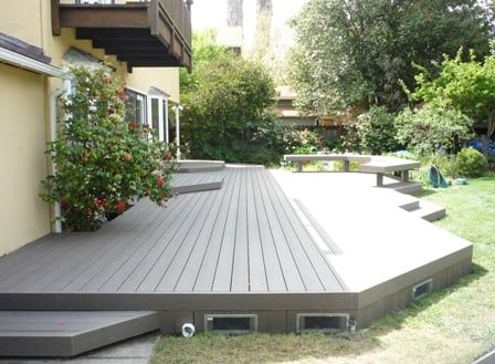 Image Result For Low Profile Deck Modern Backyard Landscaping Backyard Patio Deck Designs Backyard